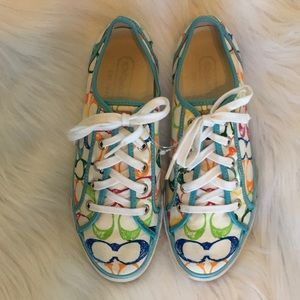 COACH Darnell Signature Sneakers size 8.5 EUC